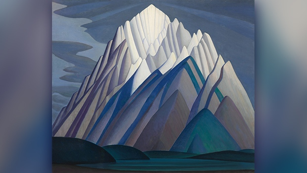 "Lawren Harris painting ""Mountain Forms"""