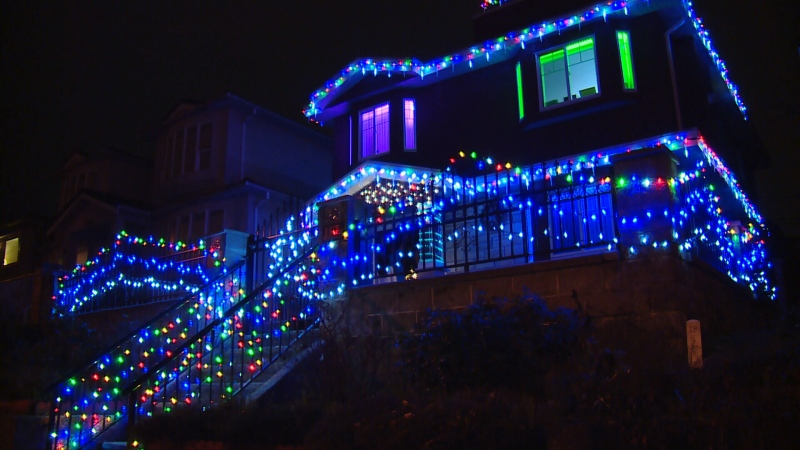 A festive home decorated for Christmas in Vancouver