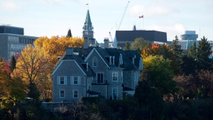 The Canadian prime ministers' residence, 24 Sussex, is seen on the banks of the Ottawa River in Ottawa on Monday, Oct. 26, 2015. (Sean Kilpatrick / THE CANADIAN PRESS)