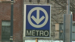 A metro sign as seen in Montreal