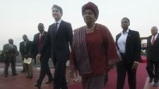 Trudeau arrives in Liberia