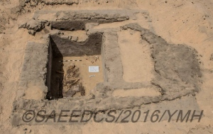 Ruins are shown at a dig site in Abydos, Egypt. (Ministry of Antiquities / Facebook)