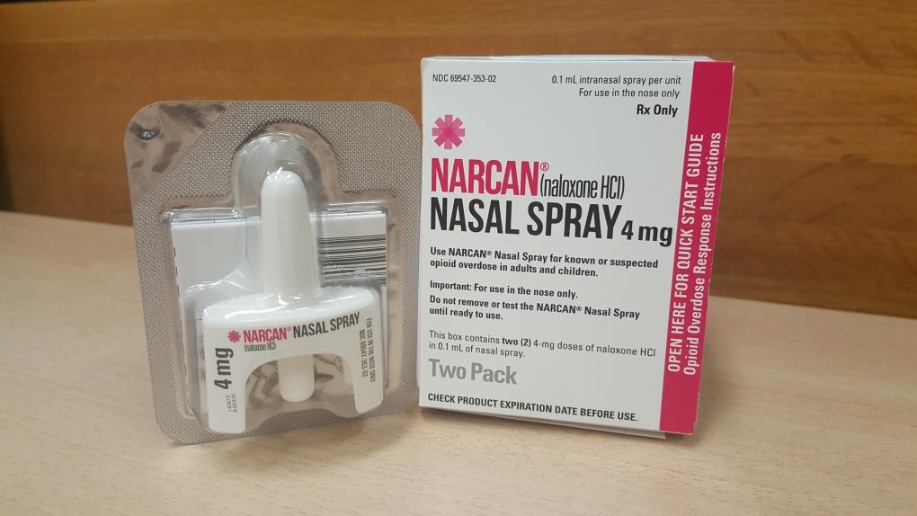 Naloxone spray