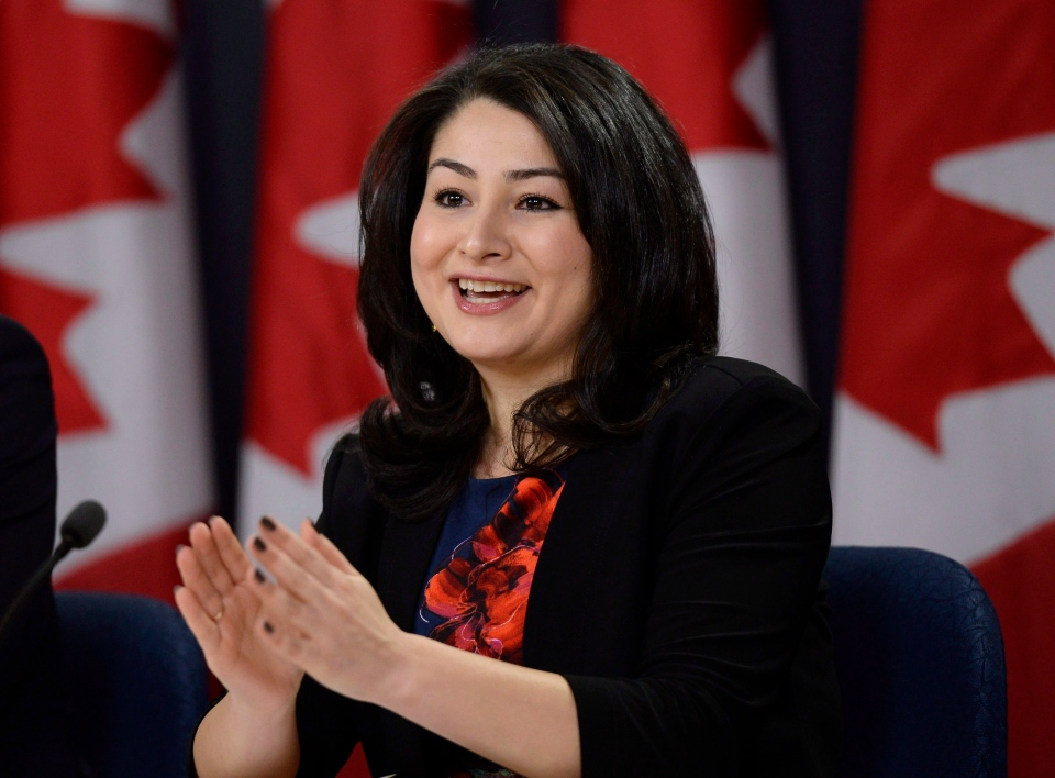 Democratic Institutions Minister Maryam Monsef speaks to reporters during a press conference, on Thursday, Nov. 24, 2016 in Ottawa. (Justin Tang / THE CANADIAN PRESS)