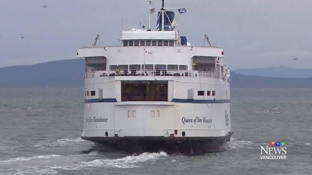 The Queen of New Westminster was travelling from Nanaimo to Tsawwassen on Wednesday.