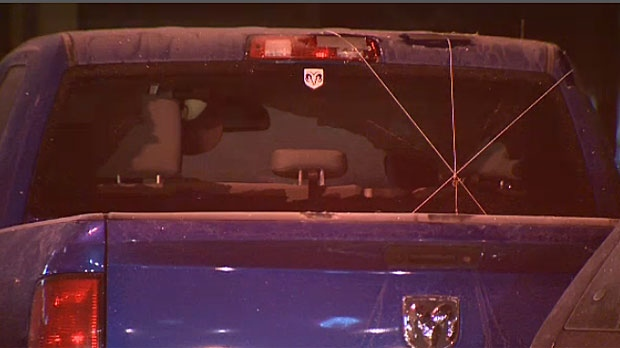 Police opened fire on Terrance Wienmeyer, 49, who was behind the wheel of a reportedly stolen pickup truck on Tuesday evening.