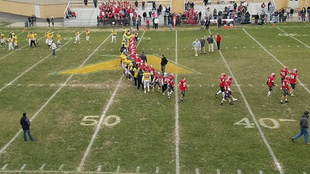 Football player with Down syndrome scores 65-yard touchdown