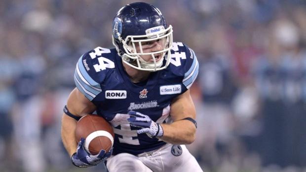 Toronto Argonauts running back Chad Kackert
