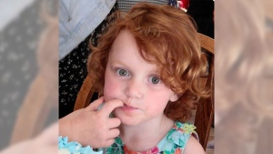 Delilah Felton was last seen wearing a colourful rain jacket, mostly red with flowers on it, a black shirt with writing on the front, and black leggings with grey stripes. (Vancouver Police Department)
