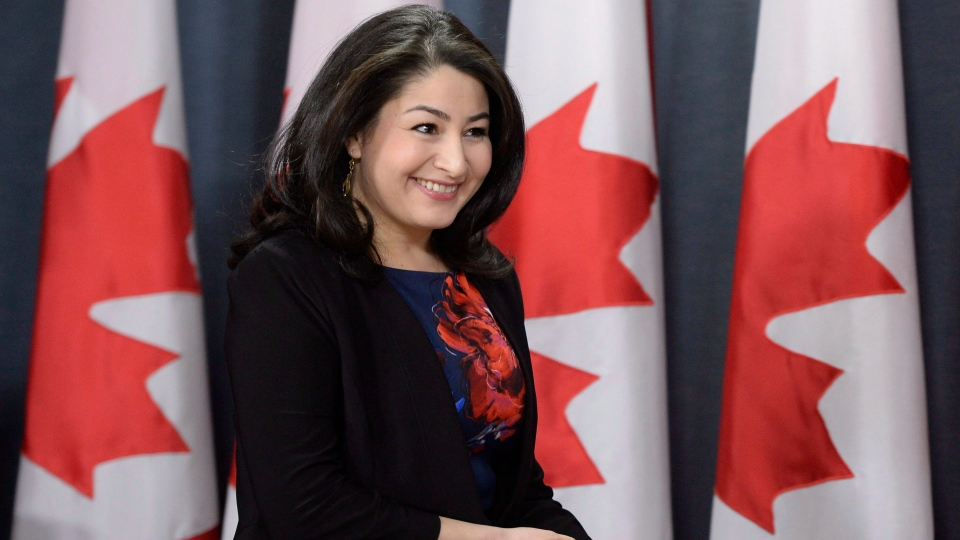 Minister of Democratic Institutions Maryam Monsef arrives for a press conference, on Thursday, Nov. 24, 2016 in Ottawa. (THE CANADIAN PRESS / Justin Tang)