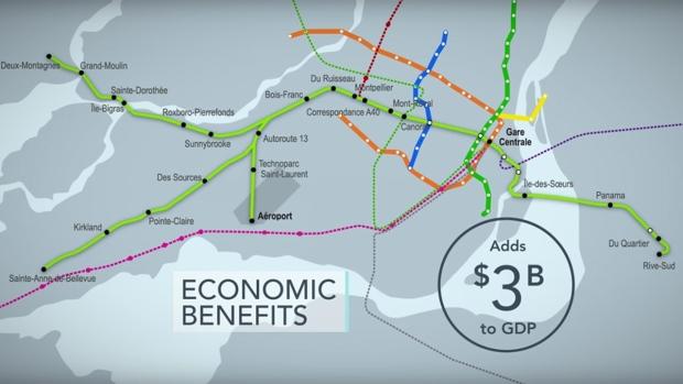Three Montreal stations REM light rail