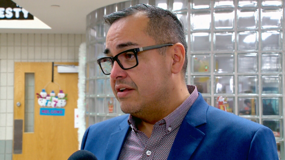 Saskatchewan's advocate for children and youth Corey O'Soup speaks with media in this CTV file photo.