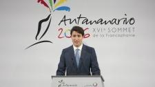 Justin Trudeau at Francophonie summit, Madagascar