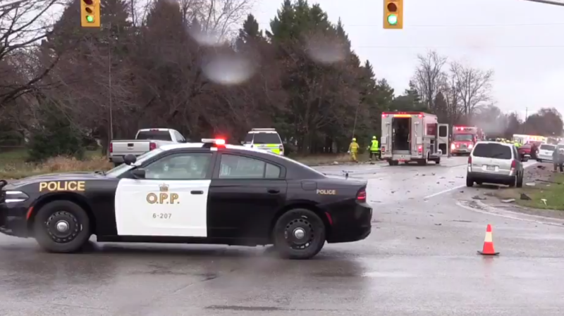 Egremont Drive is closed from Denfield Road to Melrose Drive, and Vanneck Road is closed from Sunningdale Road to Boston Drive while OPP investigate a fatal crash on Saturday, November 26th, 2016.