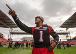Ottawa Redblacks quarterback Henry Burris takes part in the Eastern Conference practice, in Toronto on Saturday, November 26, 2016. Calgary plays the Ottawa Redblacks in the 104th Grey Cup game Sunday Nov. 27, 2016. THE CANADIAN PRESS/Ryan Remiorz