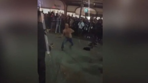 Black Friday shopper was filmed using his belt as a whip (CTV)