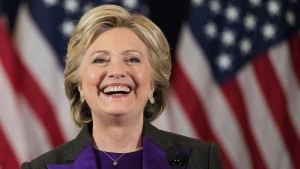 In this Nov. 9, 2016 file photo, Democratic presidential candidate Hillary Clinton speaks in New York, where she conceded her defeat to Republican Donald Trump after the hard-fought presidential election. (AP Photo/Matt Rourke, File)