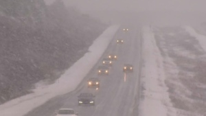 Winter weather hit Atlantic Canada for the first time this season this past weekend. (CTV Atlantic)