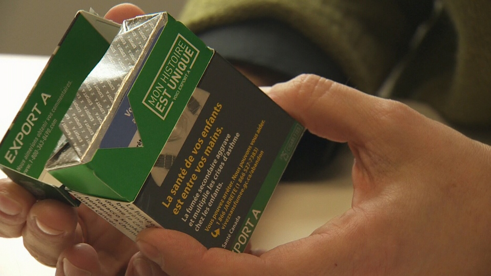 The provincial government has introduced minimum size requirements for health warning signs on cigarette packages.