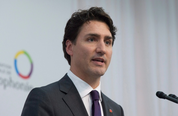 Canadian Prime Minister Justin Trudeau speaks during a news conference at the Francophonie Summit in Antananarivo, Madagascar, on Sunday, November 27, 2016. (THE CANADIAN PRESS/Adrian Wyld)