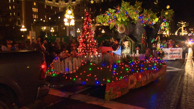 It was a great turnout at the 35th annual Island Farms Santa's Light Parade, meant to celebrate the beginning of Christmas in Victoria. The event ended with the Christmas tree light-up in Centennial Square. Nov. 26, 2016. (CTV Vancouver Island)