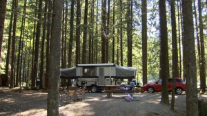 A B.C. campsite is seen in this undated file photo.