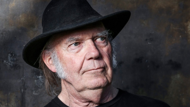 Neil Young in Calabasas, Calif., on May 18, 2016. (Rich Fury / Invision / AP)
