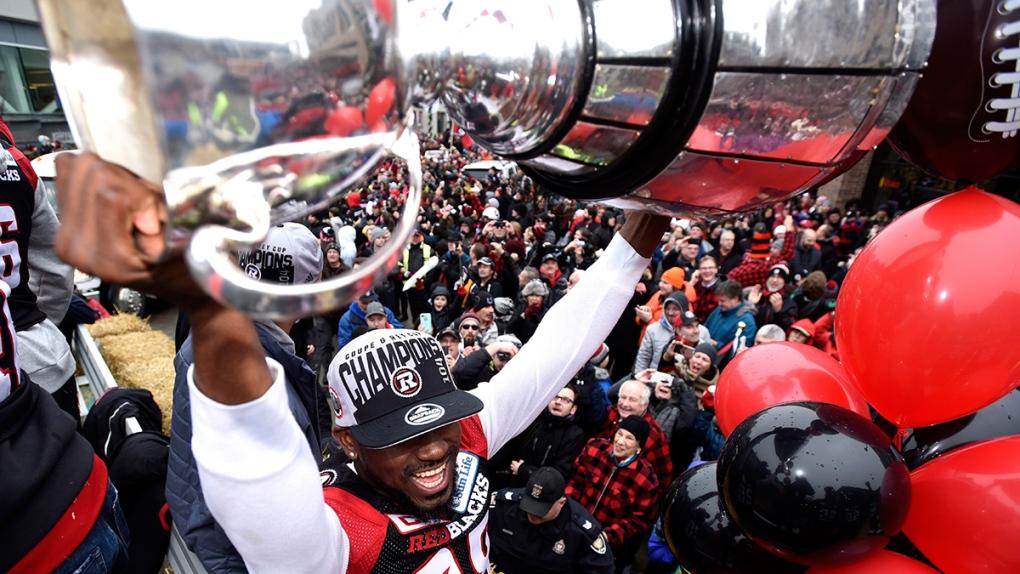 Redblacks Celebrate At Grey Cup Parade Ctv News