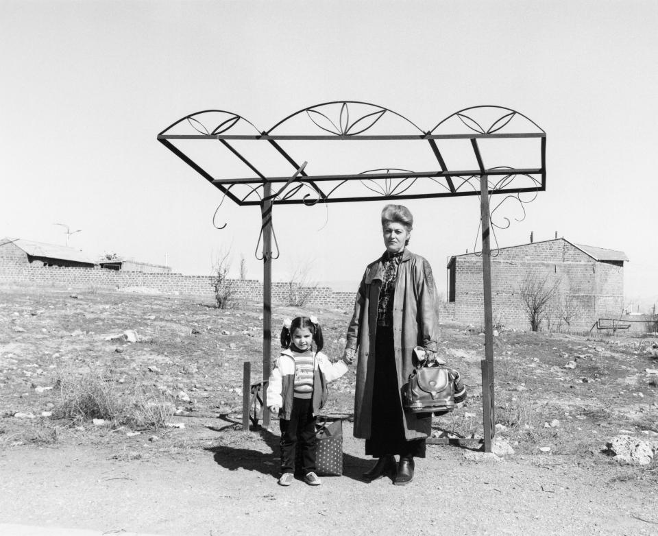 A handout photo of photographer Ursula Schulz-Dornburg's photograph 'Bus stops. Armenia. Erevan-Parakar 2004 Gelatin silver print' is seen here. (THE CANADIAN PRESS / HO, AGO, Ursula Schulz-Dornburg)