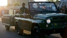Cortege with Cuban leader Fidel Castro's ashes
