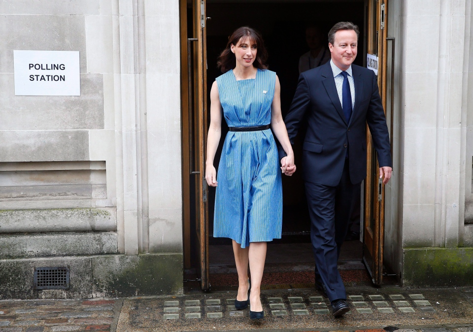 In this Thursday, June 23, 2016 file photo, Britain's Prime Minister David Cameron and his wife Samantha leave after voting in the EU referendum in London. (AP Photo/Alastair Grant, File)