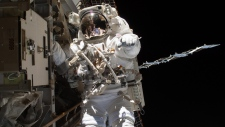 Steve Swanson at the International Space Station
