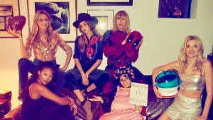 Taylor Swift poses with friends on Halloween. (Instagram: taylorswift)