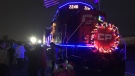 The CP Holiday train visits Windsor on Wednesday, Nov. 30, 2016. (Melanie Borrelli / CTV Windsor)