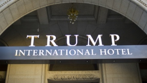 The exterior of the Trump International Hotel is seen in downtown Washington on Monday, Sept. 12, 2016. (AP / Pablo Martinez Monsivais)