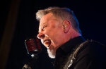 Lead singer James Hetfield of Metallica plays at the Opera House, a small venue with a 950 person capacity, in Toronto, Tuesday November 29, 2016. Proceeds from the show will go to The Daily Bread Food Bank, an organization that helps combat hunger. (THE CANADIAN PRESS/Mark Blinch)