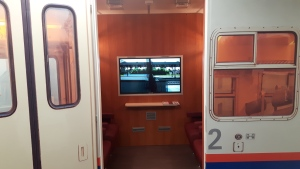 In January, three Alzheimer's patients will start a 'travel therapy' trial onboard the virtual train. (Notre Dame de la Treille)