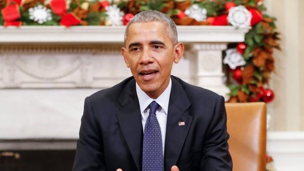 President Barack Obama speaks in the Oval Office of the White House in Washington on Nov. 30, 2016. (Pablo Martinez Monsivais/AP)