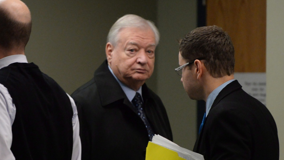 Former Laval mayor Gilles Vaillancourt arrives for a court appearance in Laval, Quebec on Dec. 1, 2016. (Ryan Remiorz / THE CANADIAN PRES)