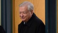 Former Laval mayor Gilles Vaillancourt arrives for a court appearance in Laval, Quebec on Thursday Dec. 1, 2016. THE CANADIAN PRESS/Ryan Remiorz