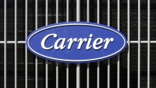 Carrier logo on an air conditioning unit