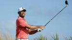 Tiger Woods watches his tee shot on the fourth hole during the Pro-Am at the Hero World Challenge golf tournament, Wednesday, Nov. 30, 2016, in Nassau, Bahamas. (AP / Lynne Sladky)