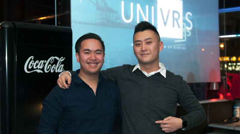 Recent UBC grads Alex Chua and Charlie Shi are bringing virtual reality to the masses at UNIVRS. (Provided)