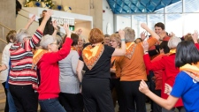 Grandmothers for Grandmothers flash mob for AIDS