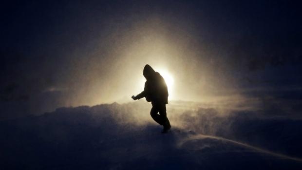 A snowstorm hits a protest camp in North Dakota