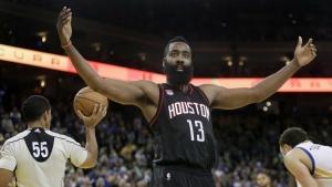 Harden records triple-double against Warriors