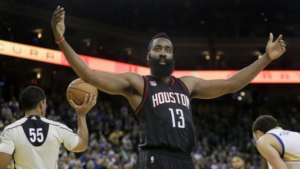 Harden records triple-double against Warriors