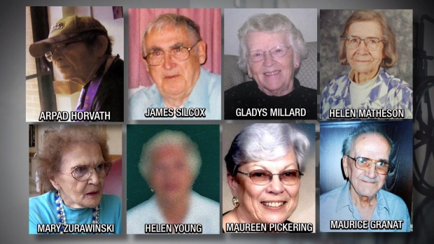 In late October, police charged former Ontario nurse Elizabeth Tracy Mae Wettlaufer with eight counts of first-degree murder. The alleged victims died between 2007 and 2014: James Silcox, Maurice Granat, Gladys Millard, Helen Matheson, Mary Zurawinski, Helen Young, Maureen Pickering and Arpad Horvath. They were residents of two nursing homes at the time of their deaths: Caressant Care in Woodstock and Meadow Park in London.