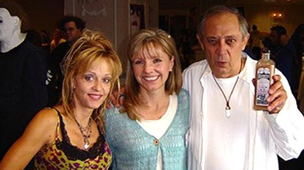 Don Calfa with Living Dead co-stars Linnea Quigley and Beverly Randolph in 2007