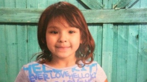 Police said Luisa Alvarenga was taken from her home in Portage by her biological mother Colleen McIvor. (Source: RCMP)